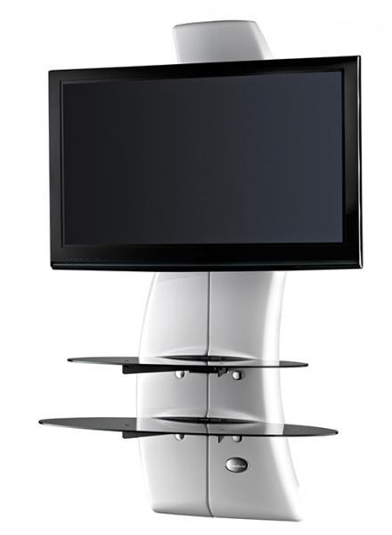 Meliconi Ghost Design 2000 falra szerelhető TV és hi-fi konzol, fehér színben